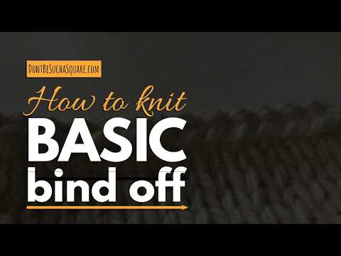 HOW TO KNIT: Basic bind off – The easiest way to finish of your knitting project!