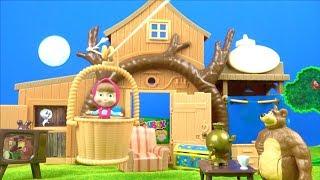 Maşa ile Koca Ayı Dev 2 Katlı Ağaç Evde Gizli Toybox Sürpriz Oyuncak Açtı Pretend Play With Toys