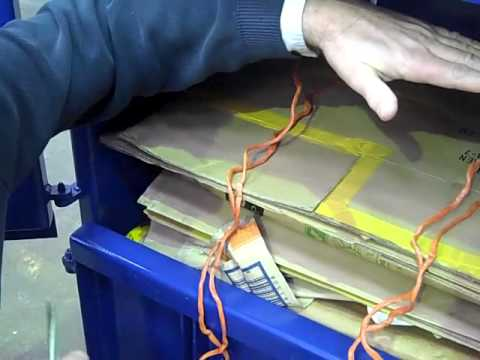 Using a V40 or V70 Waste Baler - Cardboard Baler - UK - United Kingdom & Australia