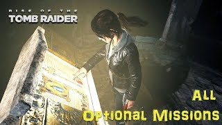 RISE OF TOMB RAIDER ALL OPTIONAL MISSIONS PC GAMEPLAY