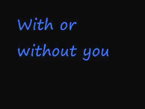 U2With or without you Lyrics