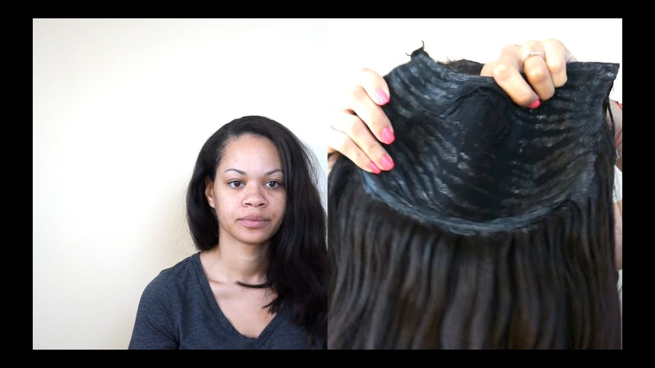 Turn your quick weave into a u part wig safe glue removal youtube pmusecretfo Images