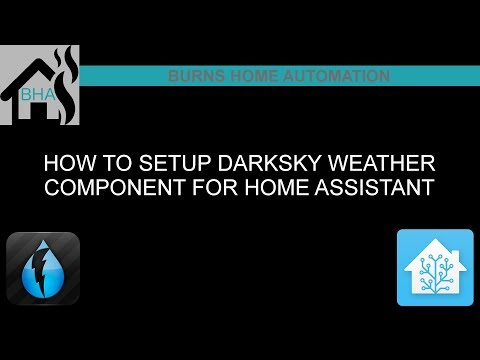 How to setup DarkSky weather component for Home Assistant