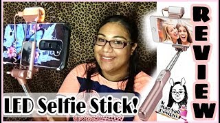 🤔🤳Mocreo LED Selfie Stick Review | Does it work?! || MAENAILDESIGNS