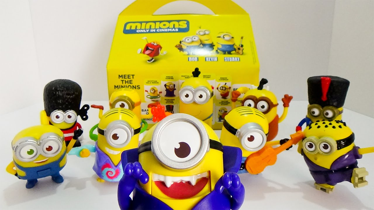 minions 2015 mcdonald s happy meal toys complete set of 10 toy minions 2015 mcdonald s happy meal toys complete set of 10 toy review by ilovethistoy
