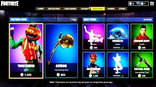 TOMATOHEAD & SQUAT KICK BACK! Fortnite ITEM SHOP May 23! NEW Featured items and Daily items!