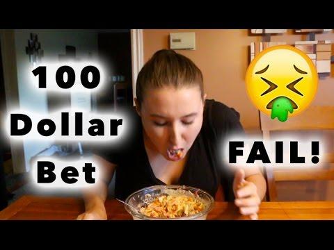 100 Dollar Bet! *VOMIT WARNING*