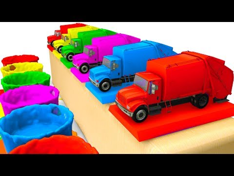 Thumbnail: LEARN Colors /w Cars for Kids & Truck Learning Educational Video - Superheroes for babies
