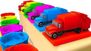LEARN Colors /w Cars for Kids & Truck Learning Educational Video - Superheroes for babies