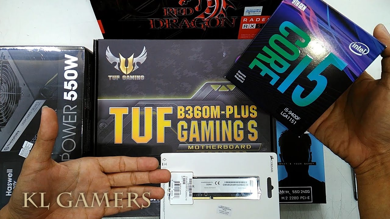 intel Core i5 9400F ASUS B360M PLUS TUF GAMING S GALAX GAMER SSD RADEON RX570 GAMING RIG 2019