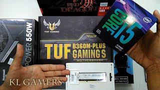 intel Core i5 9400F ASUS B360M PLUS TUF GAMING S GALAX GAMER SSD RADEON RX570 GAMING RIG 2019