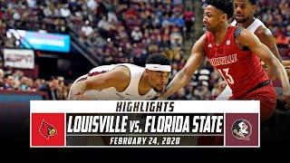 No. 11 Louisville vs. No. 6 Florida State Basketball Highlights (2019-20) | Stadium