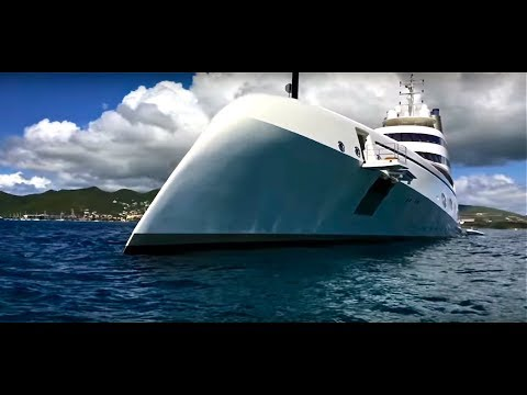 Mega yacht Russian billionaire in the Caribbean!