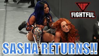 Sasha Banks Returns To WWE Raw And Attacks Becky Lynch WITH BLUE HAIR