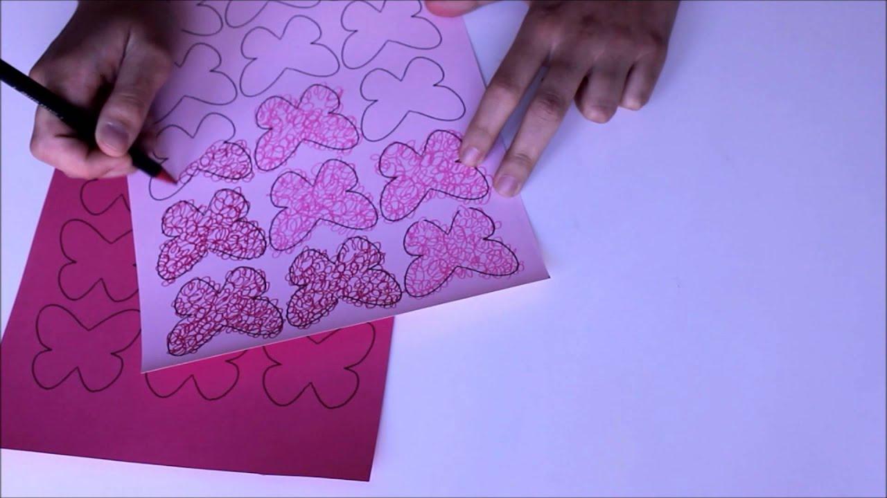 C mo hacer guirnalda de mariposas de papel con imprimible for Colocar papel mural