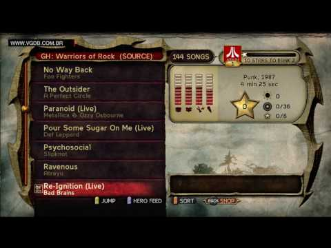 Guitar Hero Warriors of Rock (song list) - Microsoft Xbox 360 - VGDB