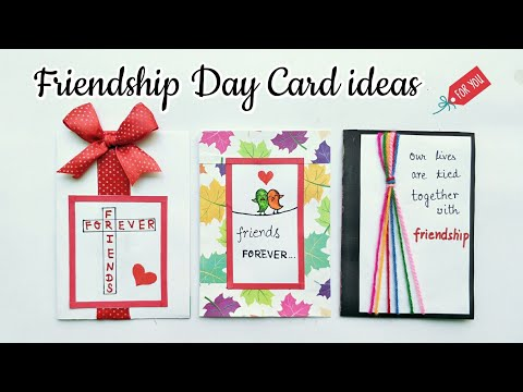 3 Special Card for Friendship Day/Handmade Card for Friends/Simple and Easy Friendship Day Card idea