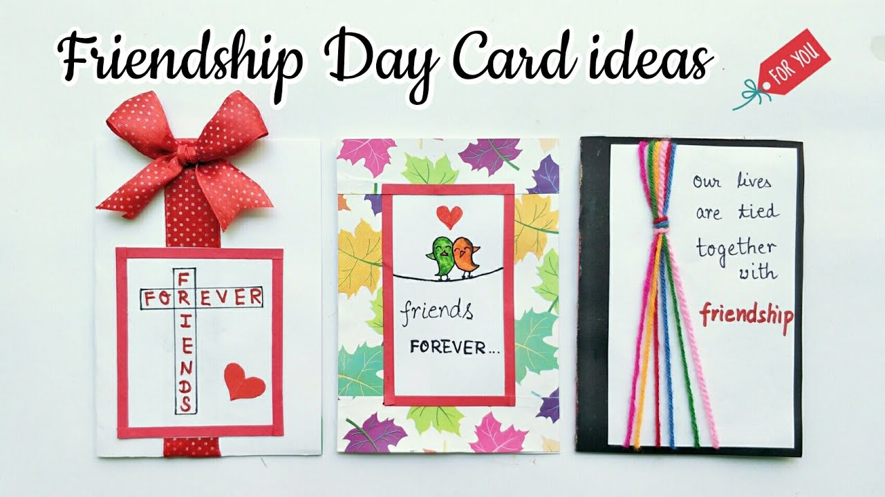 3 Special Card For Friendship Day Handmade Card For Friends Simple And Easy Friendship Day Card Idea
