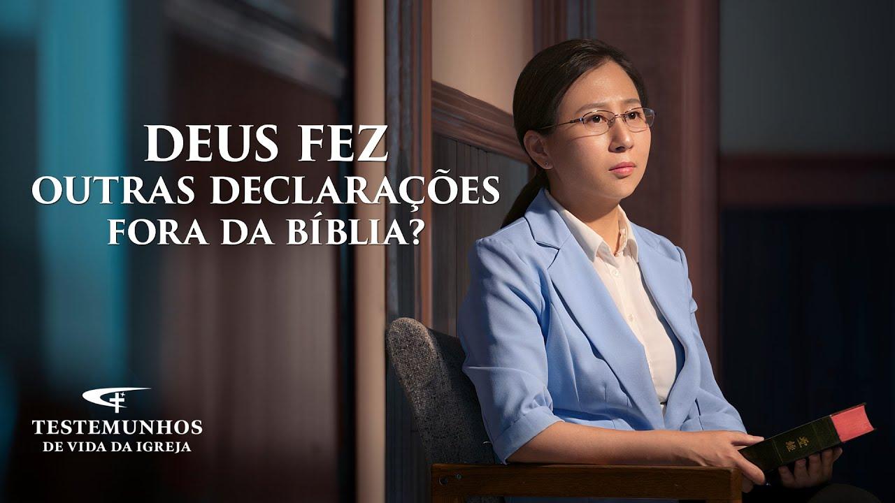 """Testemunho evangélico 2020 """"Deus fez outras declarações fora da Bíblia?"""""""