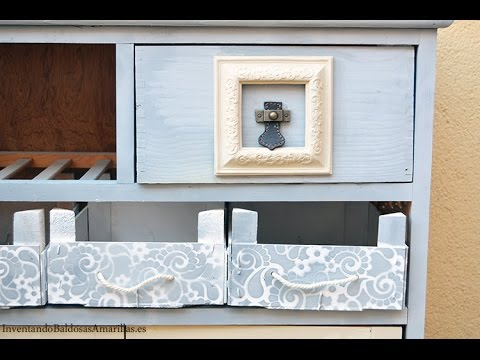 Tutorial decora tus muebles con pintura de tiza en spray - YouTube