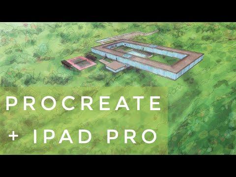 ✏️-procreate-&-ipad-pro---dibujo-arquitectura-/-architectural-renderings---hotel-04-(2019)