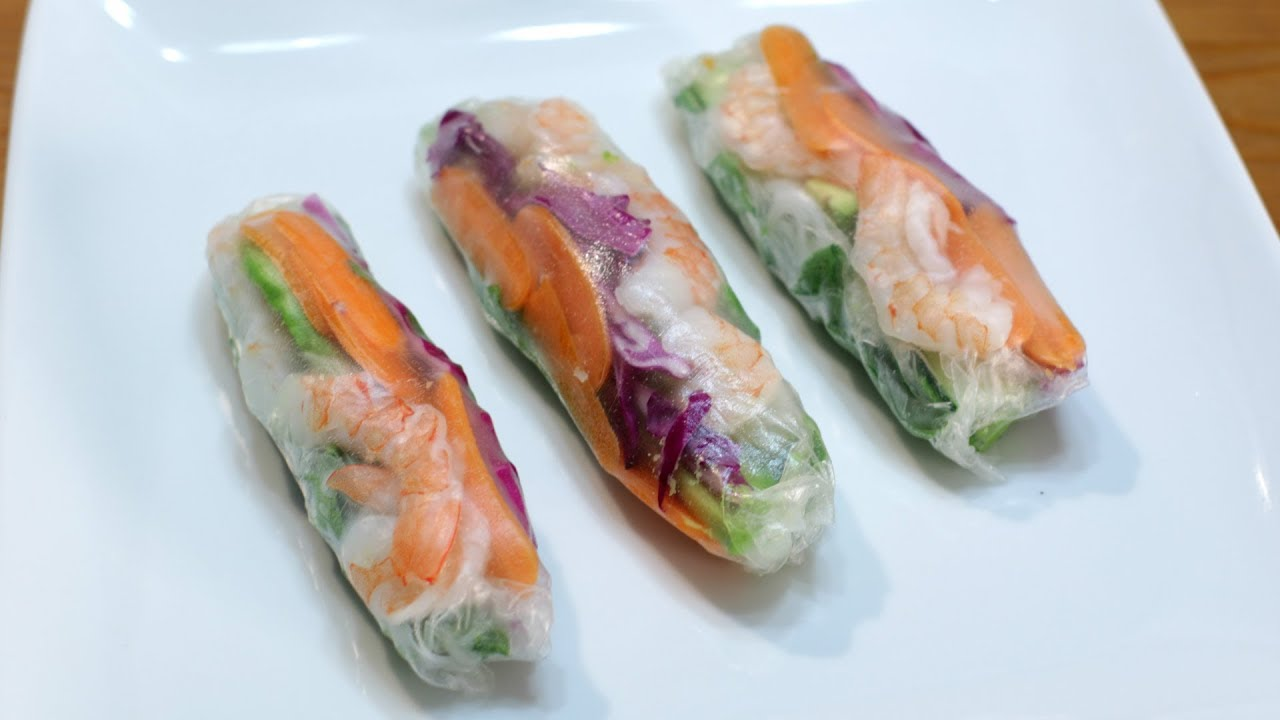 How To Make Spring Rolls Easy Spring Roll Recipe Youtube