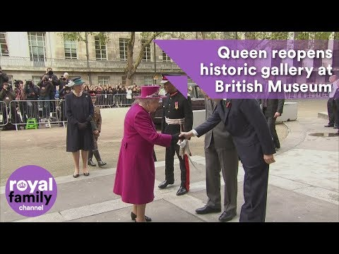 Queen reopens historic gallery at British Museum