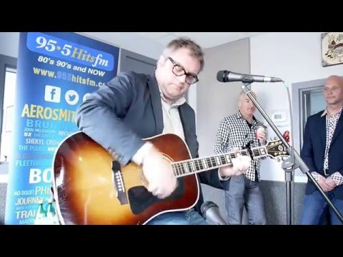 Steven Page in the 95.5 Hits FM Studio