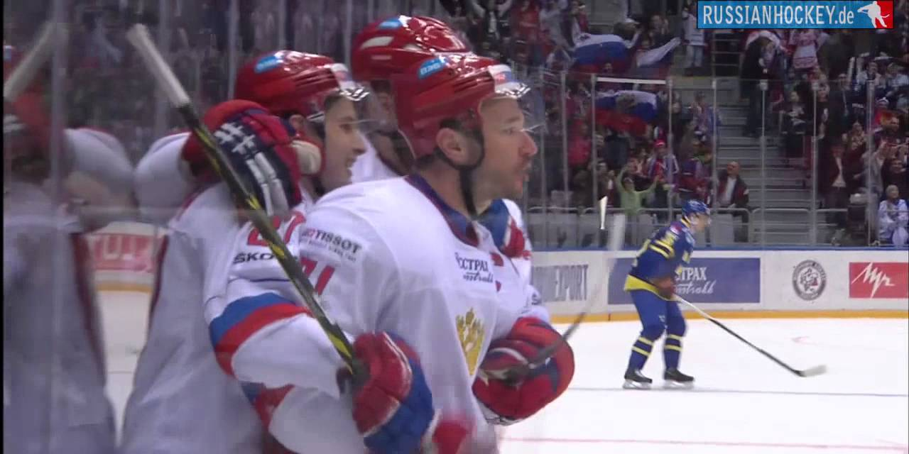 RUSSIA - SWEDEN 3:2 · Кубок Первого канала 2014 · Россия Швеция - YouTube