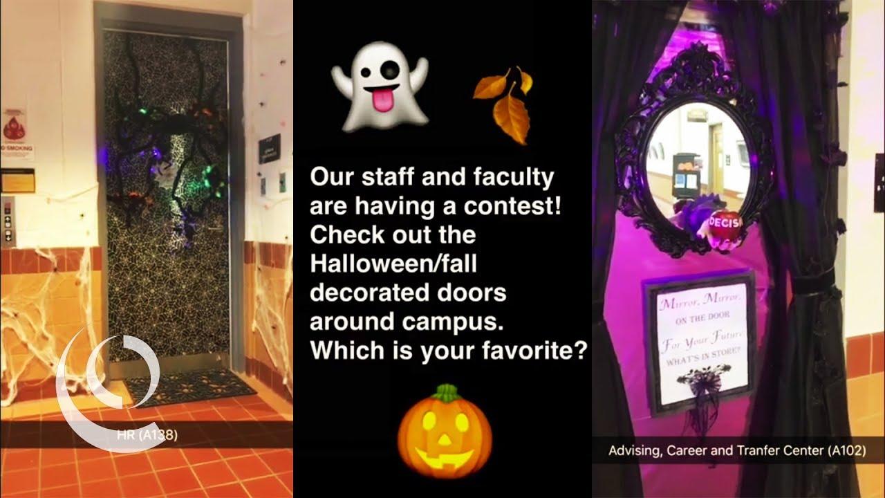 Fall/Halloween Door Decorating Contest - YouTube