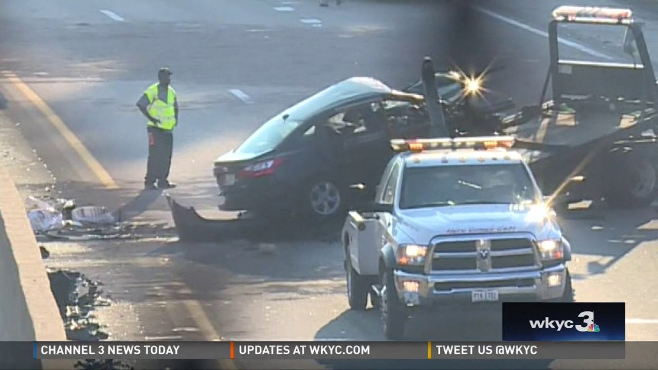 Aftermath of wrong-way crash: 71 North closed in Cleveland for hours