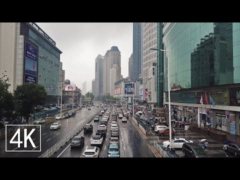 【4K60】Rainy Walk in Downtown Tianjin, China | Binjiang Road in Heping District | 中国天津市和平区滨江道步行街街拍