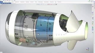 Модели T-FLEX CAD - Турбореактивный двигатель