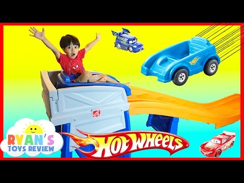 Thumbnail: STEP2 ROLLER COASTER HOT WHEELS EXTREME THRILL COASTER Ride On Car Toys for Kid Ryan ToysReview