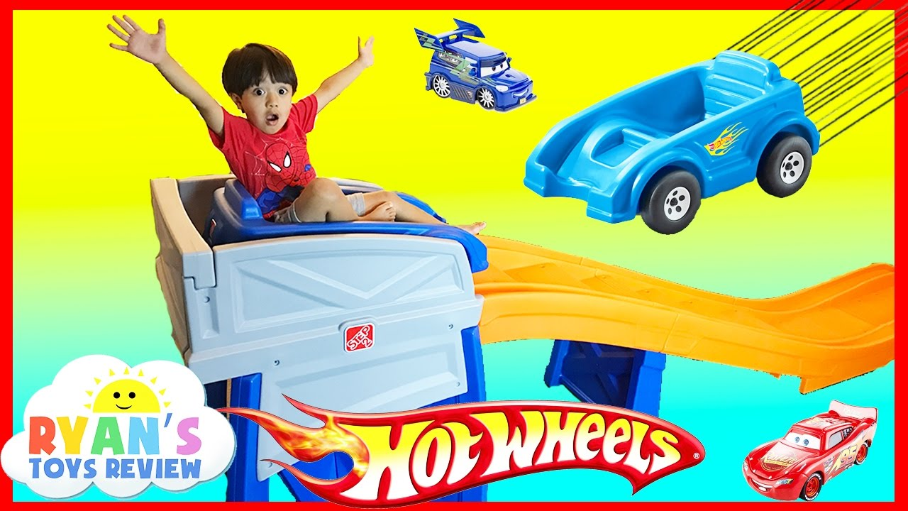 step2 roller coaster hot wheels extreme thrill coaster ride on car toys for kid ryan toysreview. Black Bedroom Furniture Sets. Home Design Ideas