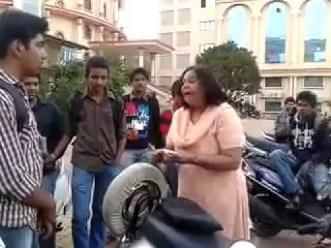 Aunty threatening and bashing a college guy at MIT Pune
