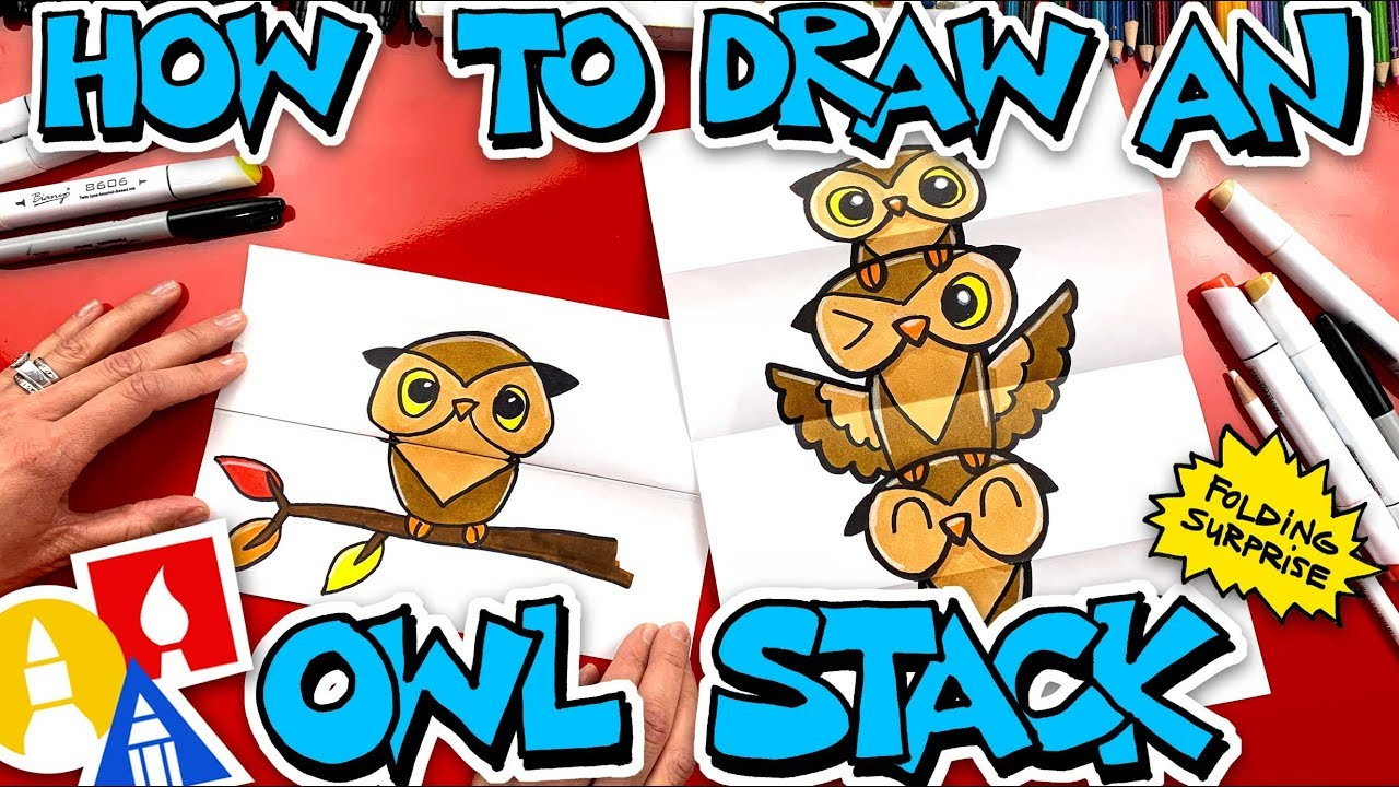 How To Draw An Owl Stack Folding Surprise with Mrs. Hubs