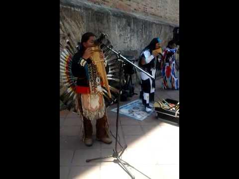 Pan flute music in Cuenca, Ecuador