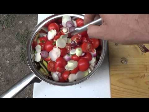 Fresh Organic Garden Harvest Soup From The Off Grid Homestead S10