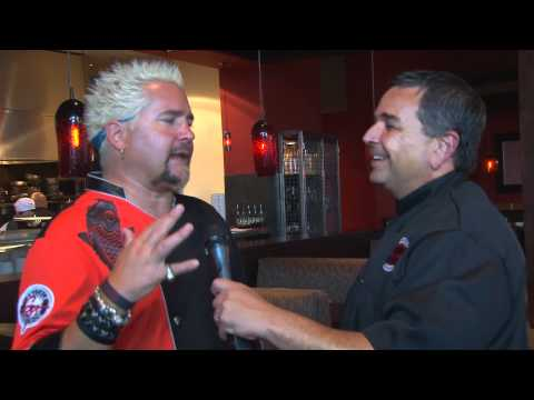 Guy Fieri and Steve Harwell at Johnny Garlic's in Dublin, CA