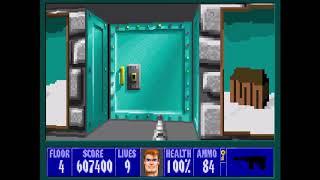 Wolfenstein 3D - Xmas Wolf Mod 100% - Floor 4 [MS-DOS]