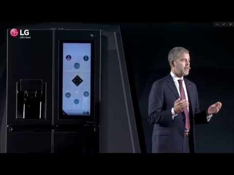 LG Smart Insta View Refrigerator with alexa at CES 2017