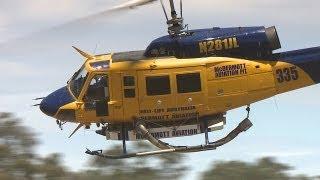 Firefighting Helicopters - Bendigo DSE Airbase 2013