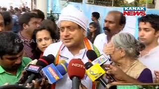 Congress Leader Shashi Tharoor Casts His Vote