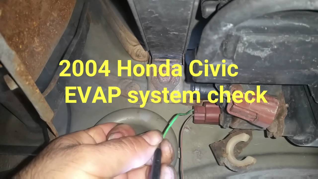 2004 Honda Civic EVAP system leak test  YouTube
