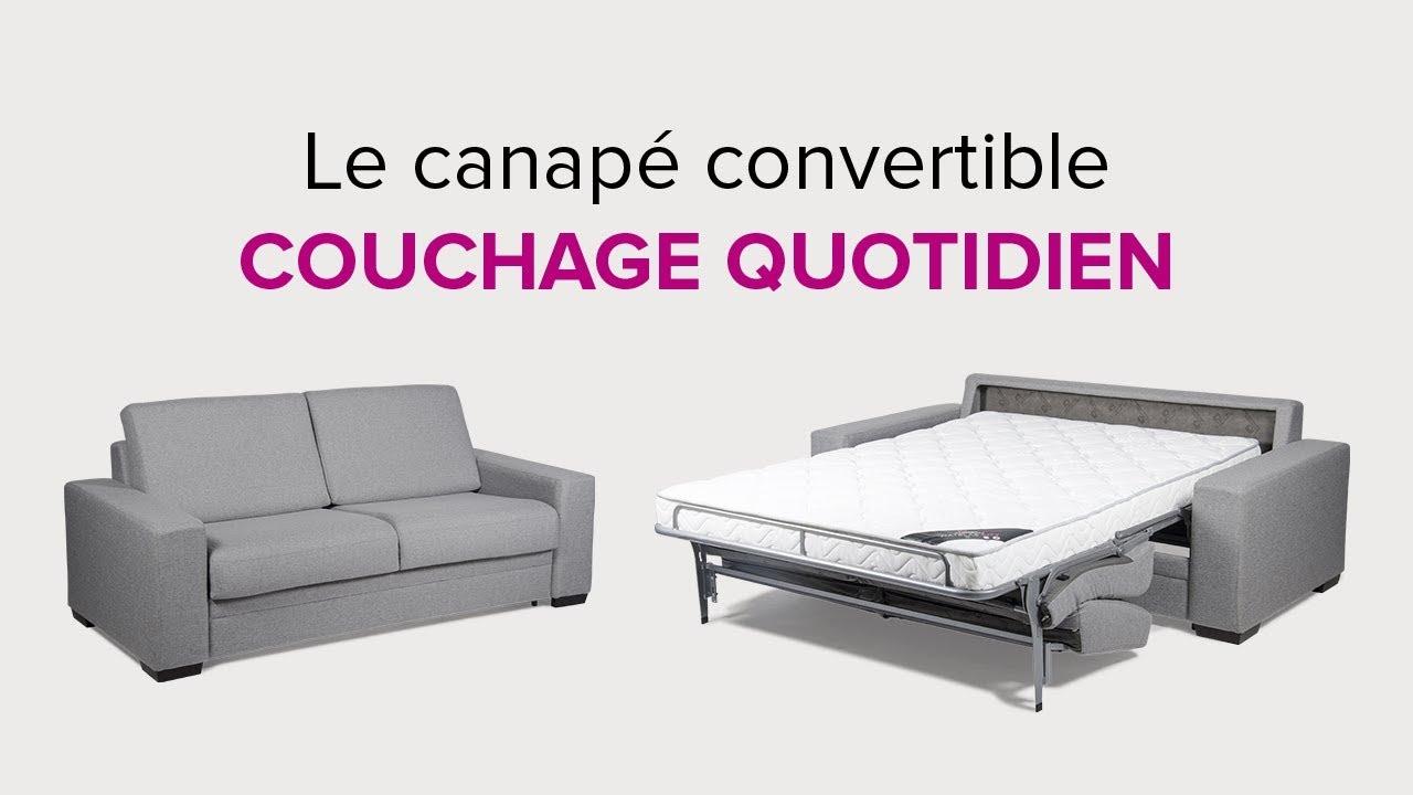 La Maison Convertible Presentation Du Canape Convertible En Couchage Quotidien Youtube