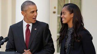President Barack Obama Sits in Crowd at Malia's High School Graduation, Still a Normal Dad!
