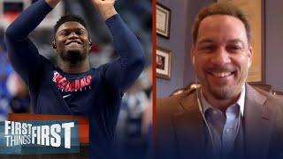 Pelicans won't win first round in playoffs, talks Zion & LeBron - Broussard | FIRST THINGS FIRST