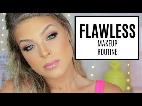 FLAWLESS foundation routine + go too makeup look | Valerie pac thumbnail