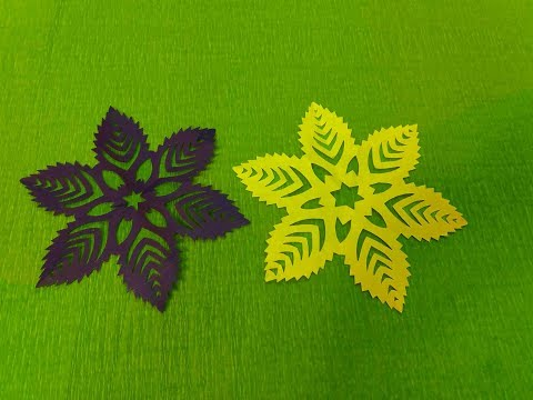 Easy Decorative Kirigami flower with paper || DIY Craft Ideas||Paper Snowflakes|| Art of Learning ||